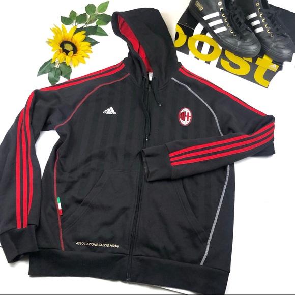 151537bb90 Adidas AC Milan ACM 1899 Full Zip Jacket XL men's